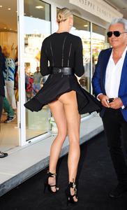 Karolina Kurkova upskirt, Giuseppe Zanotti store opening in Ibiza 07-11-2014