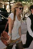 Mischa Barton shows her braless breasts through white see-through shirt